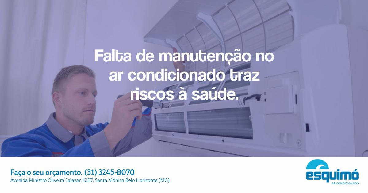 Falta de manutenção no ar condicionado traz riscos à saúde